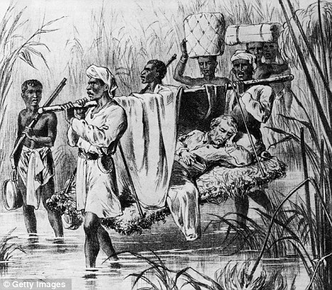 David Livingstone being carried